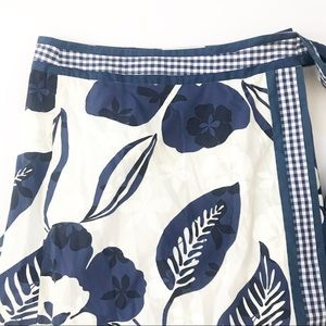 Lilly Pulitzer Skirts - Lilly Pulitzer Skirt Maxi Wrap Floral gingham XS